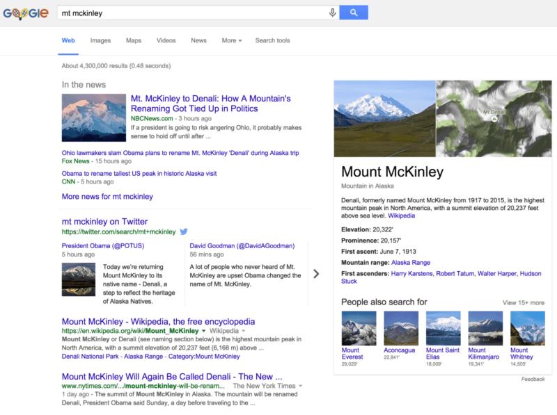 google mt mckinley