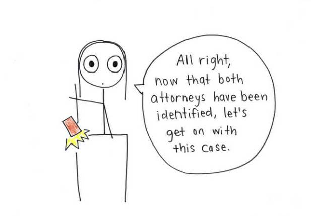 Finding an Attorney Cartoon