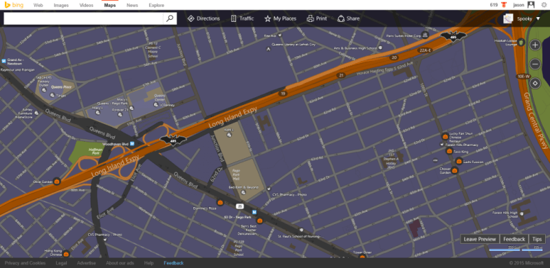Bing spooky map 2015