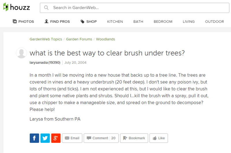 Houzz Forum Question