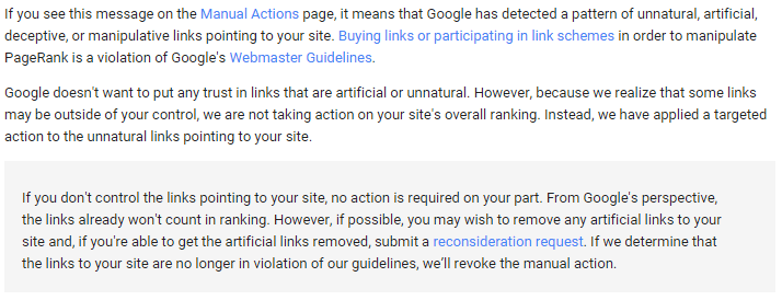 Unnatural Links to your Site, Impacts Links