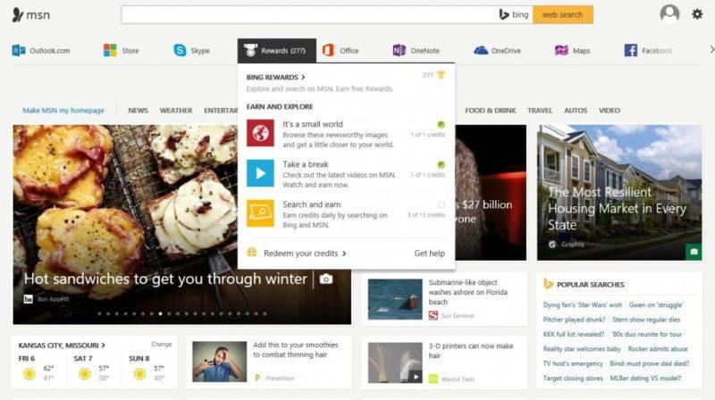 Bing MSN rewards