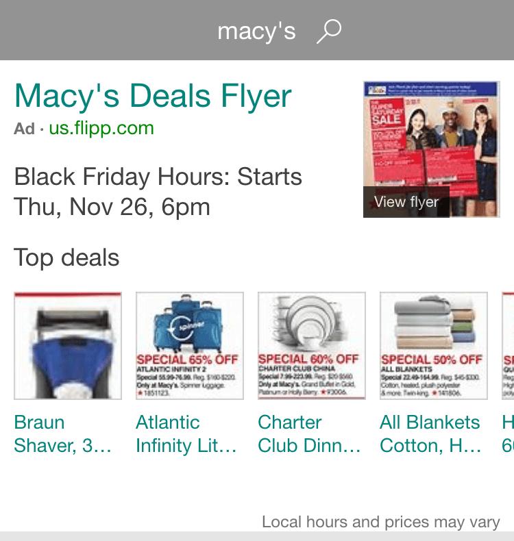black friday flyer ads on bing