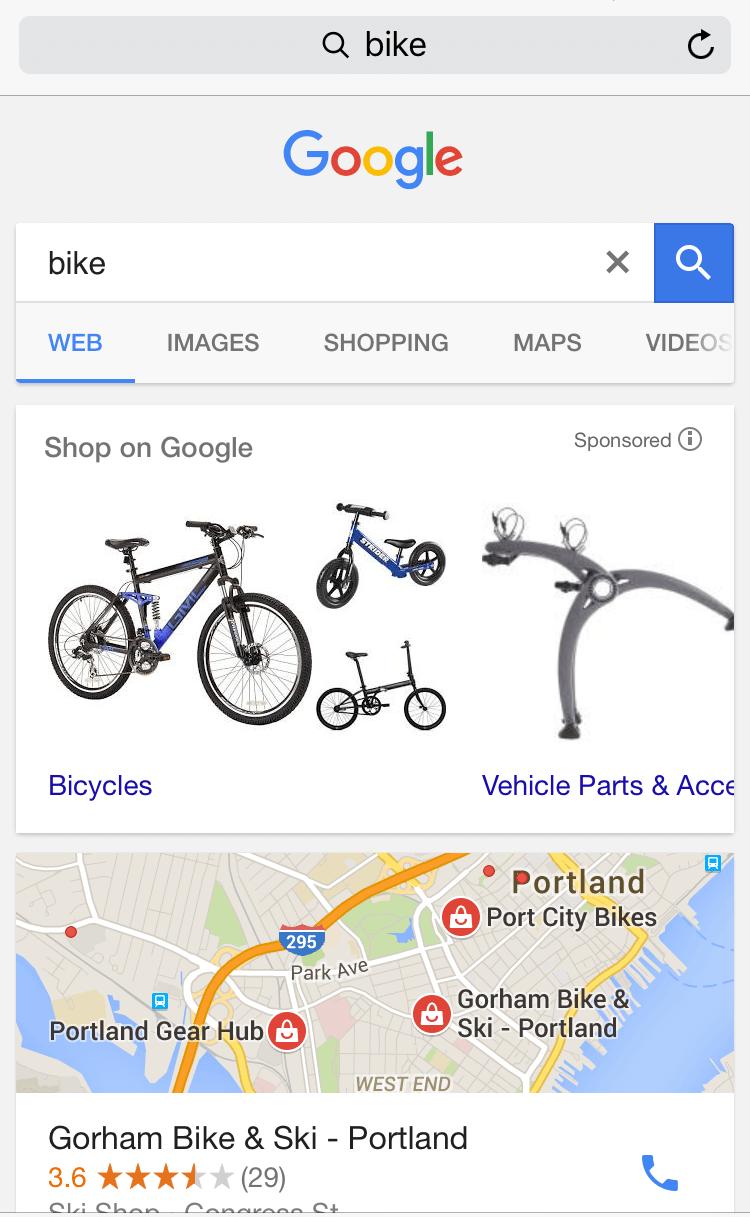 google shopping by categories bike
