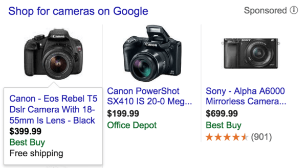 Now that the promotional text for shopping ds has been retired, Google may automatically enhance shopping ads with automated ad extensions like these.