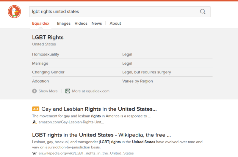 duckduckgo lgbt rights