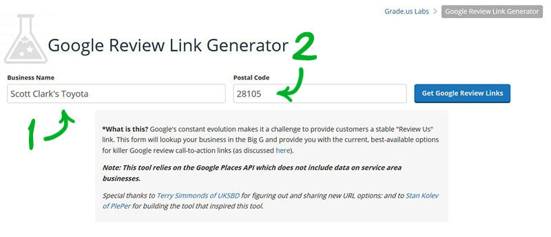 generate Google review link for customers