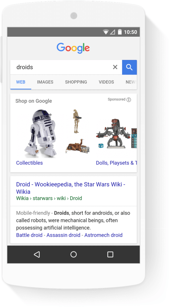 google shopping by categories