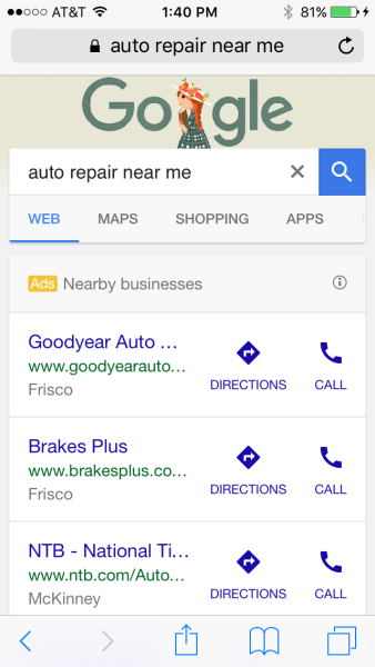 near me google ad
