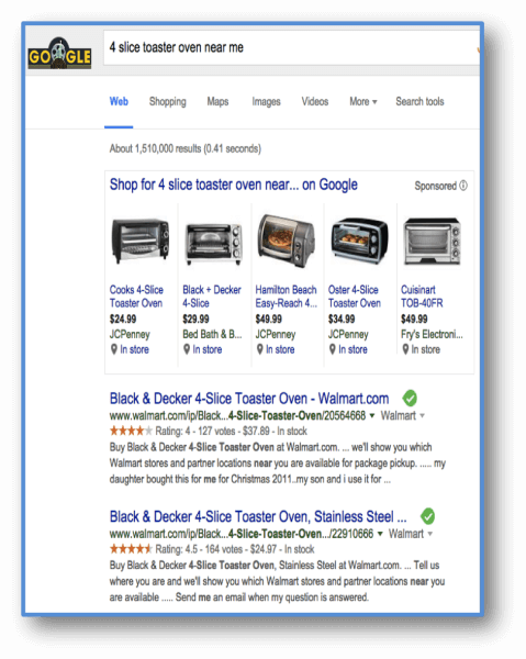 "Search for ""4 slice toaster oven near me"""