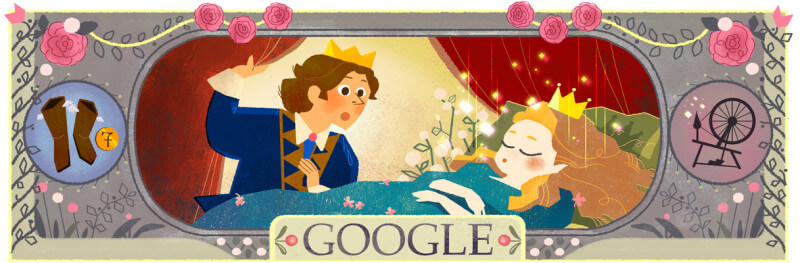 charles-perraults-388th-birthday google doodle