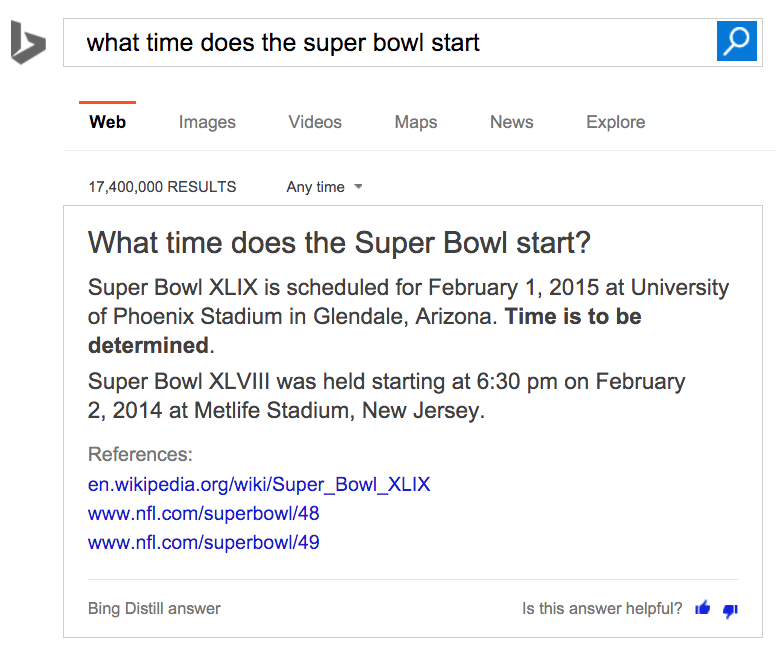 what time does the super bowl start