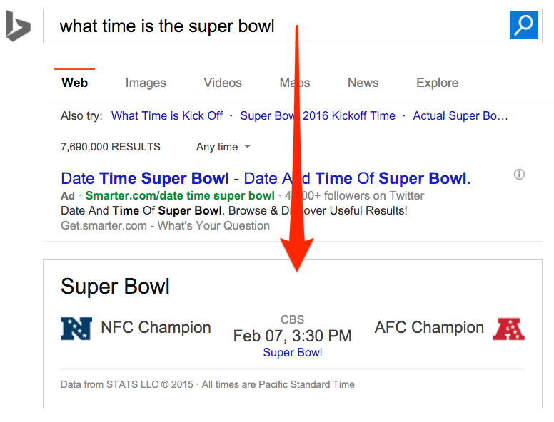 what time is the super bowl