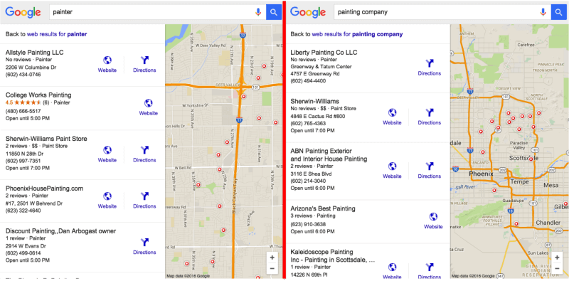 Google Local SEO Categories