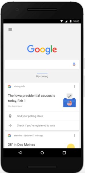 google now voting reminder
