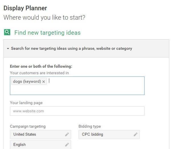 google-display-planner-enter-keyword