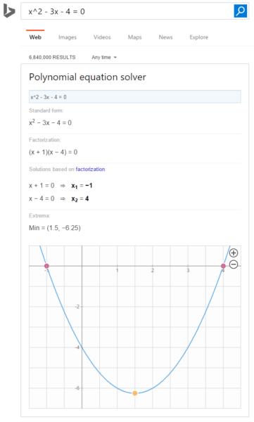 Bing polynomial equation solver
