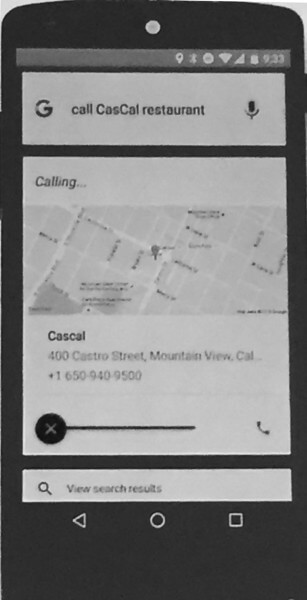 Call Cascal Restaurant From Inside an App