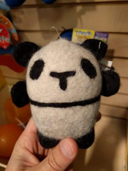 Matt Cutts with a panda toy