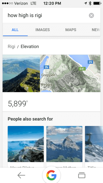 how high is rigi