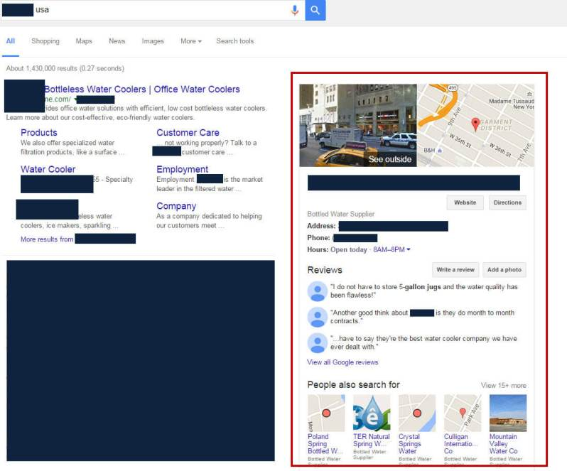 Knowledge Graph appearing for brand terms