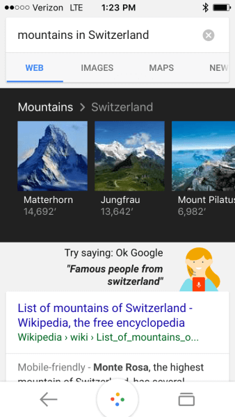 Mountains in Switzerland