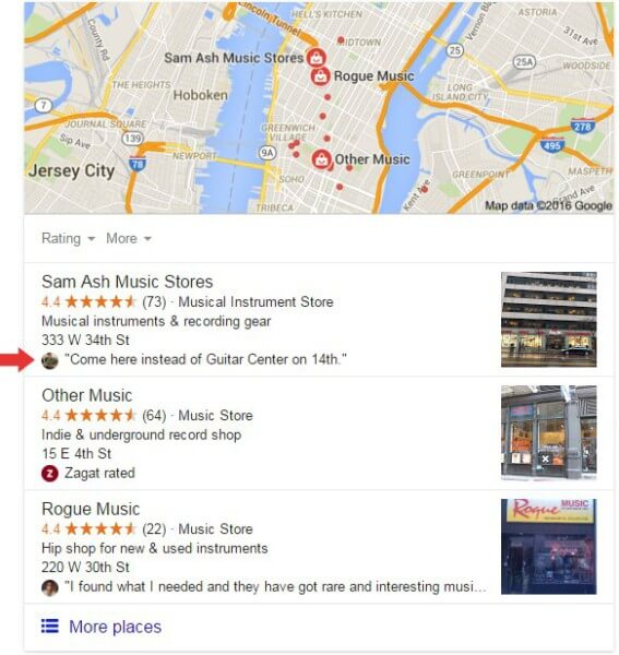 google-review-snippet