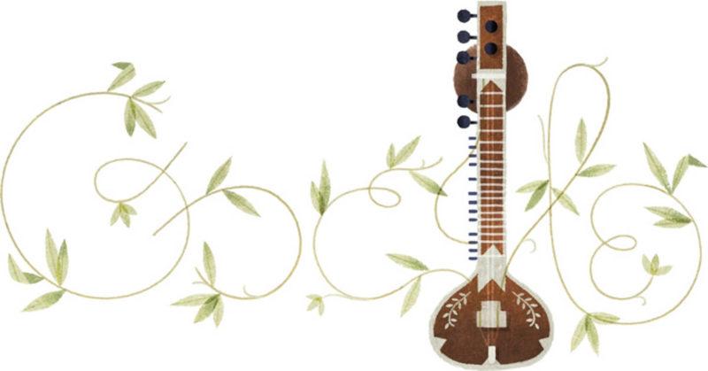 pandit-ravi-shankars-96th-birthday google doodle
