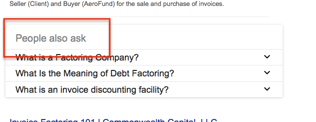 Google Related Questions Example