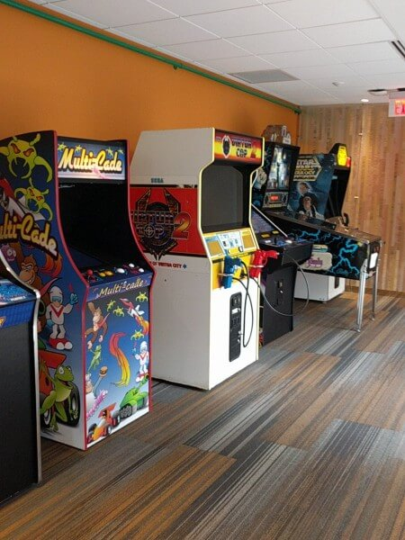 Google Boston vintage arcade game room