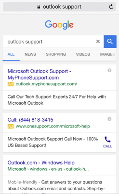 mobile tech support ads google