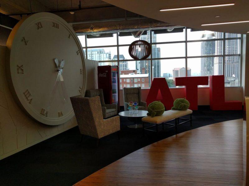 Google Atlanta large clock