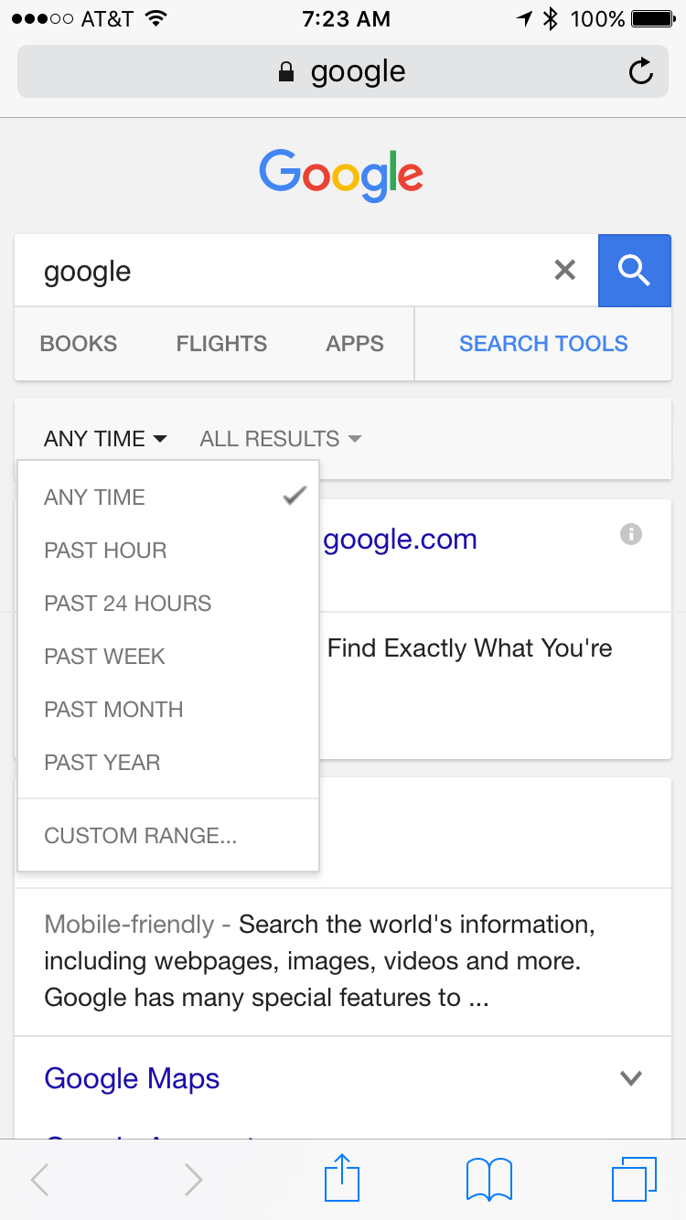 google-mobile-search-date-filter