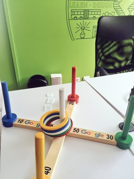 Google ring toss game