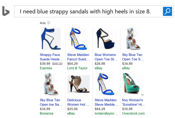 Sample product ads for shoes