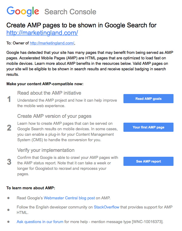 Create AMP pages to be shown in Google Search