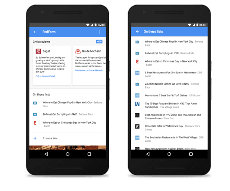 Google app local search updates