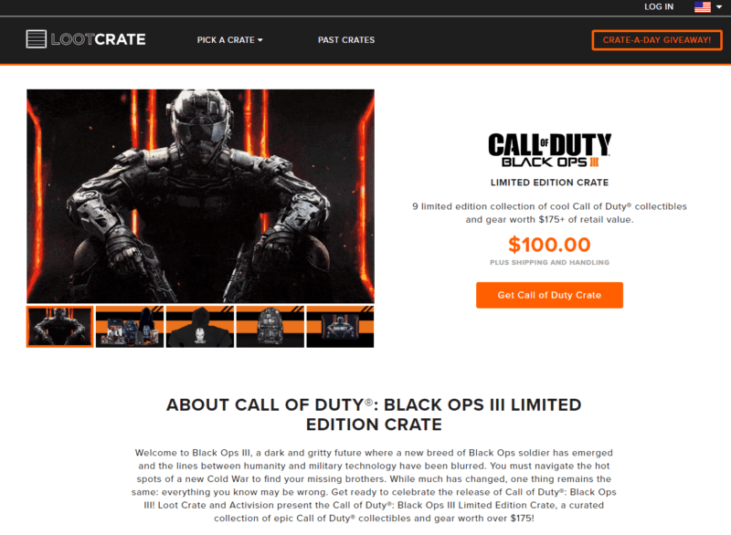 Loot Crate Call of Duty