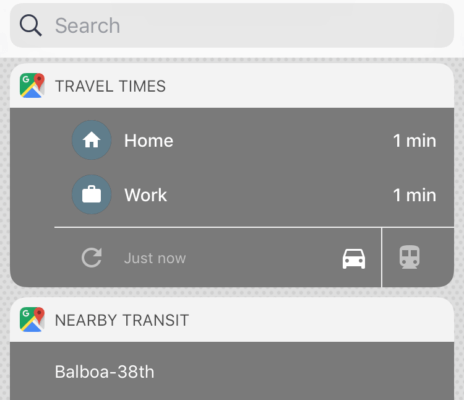 Google Maps widgets