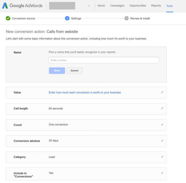 adwords-website-call-conversions