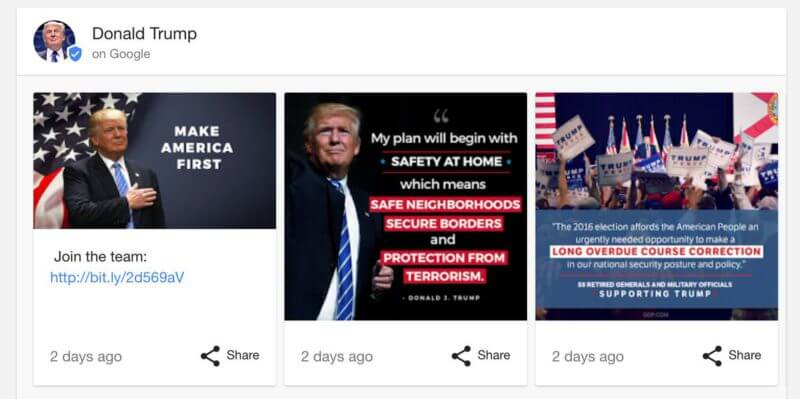 trump google posts