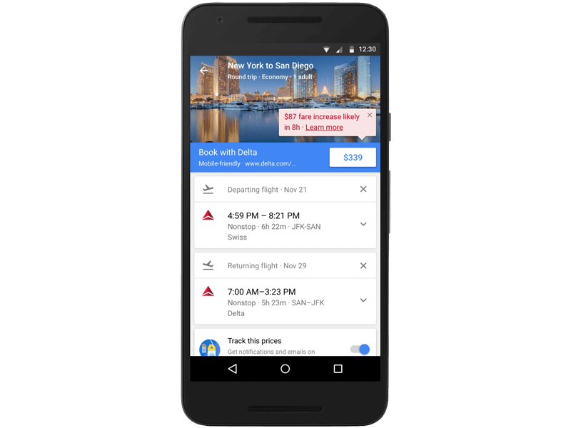 google-flights-updates
