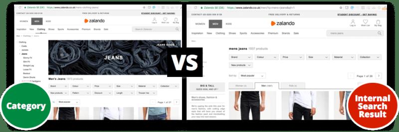 category-vs-internal-page-result
