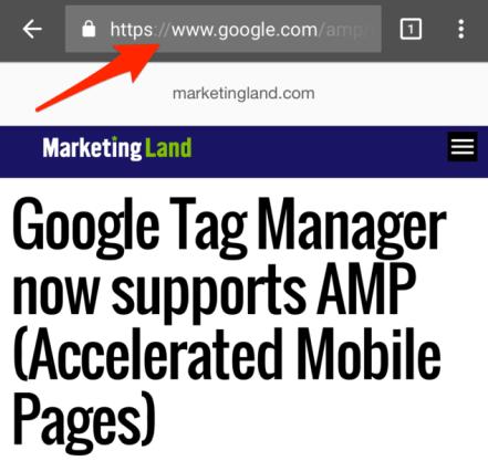 google amp urls point at google