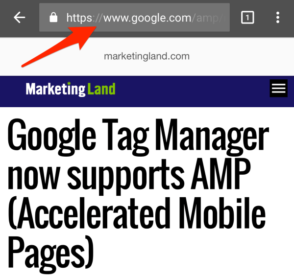 google amp urls point at google