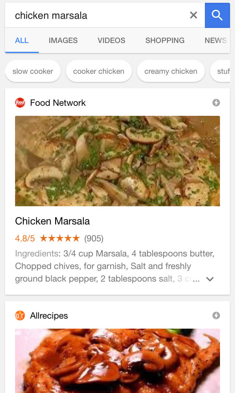 google-mobile-recipe-results