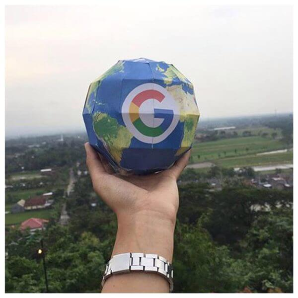 google-paper-3d-globe