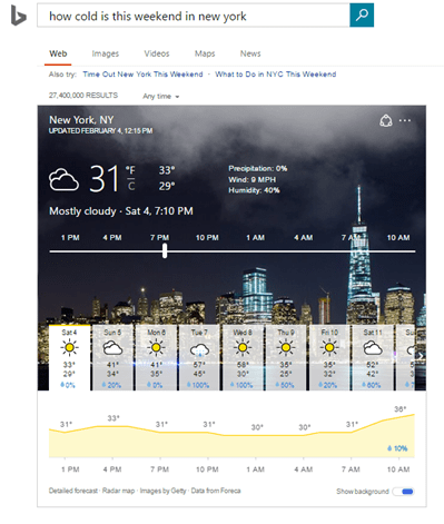 Bing weather 1