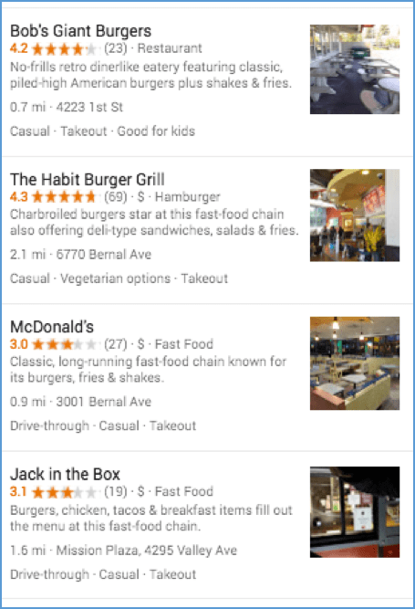 Hamburgers Near Me