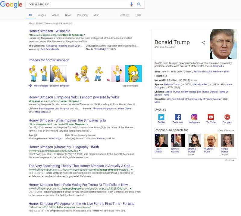 Donald Trump Homer Simpson